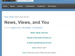 News, Views, and You