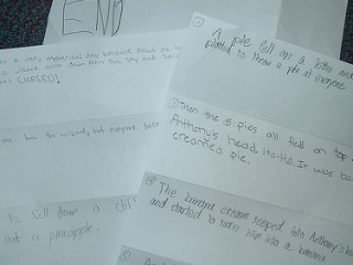 Folding a Collaborative Story