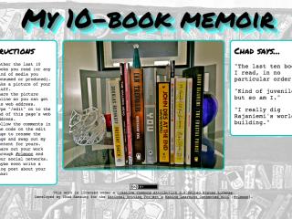 My 10-Book Memoir