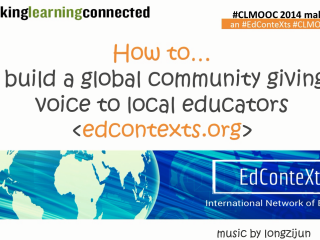 How to build community giving voice to local education contexts
