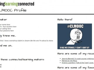 Create a #CLMOOC Profile (Thimble version)
