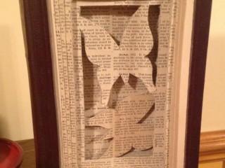 Positive/Negative Book Sculpture
